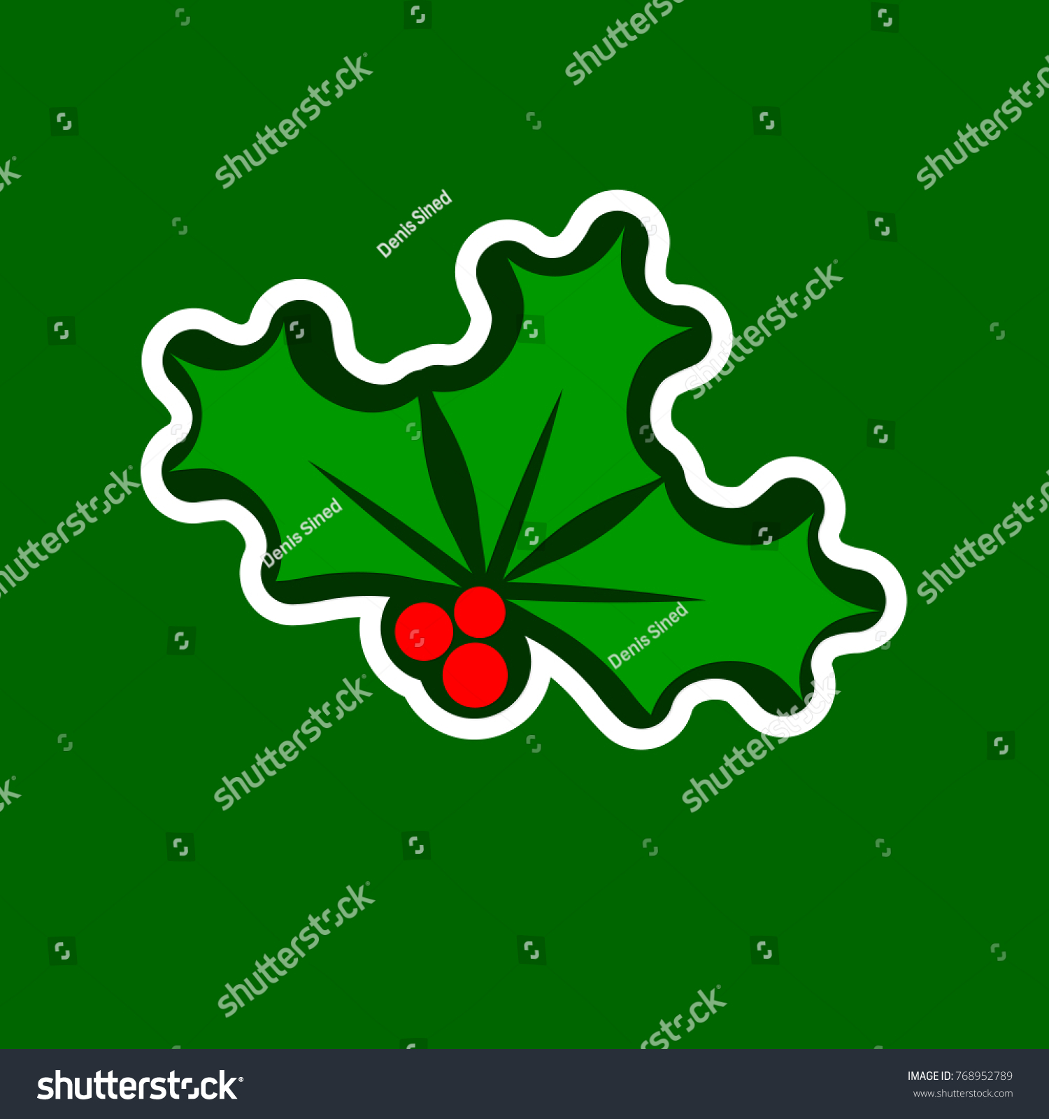 Holly berry icon christmas mistletoe flat stock vector 768952789 holly berry icon christmas mistletoe flat design template xmas symbol isolated sticker buycottarizona Image collections