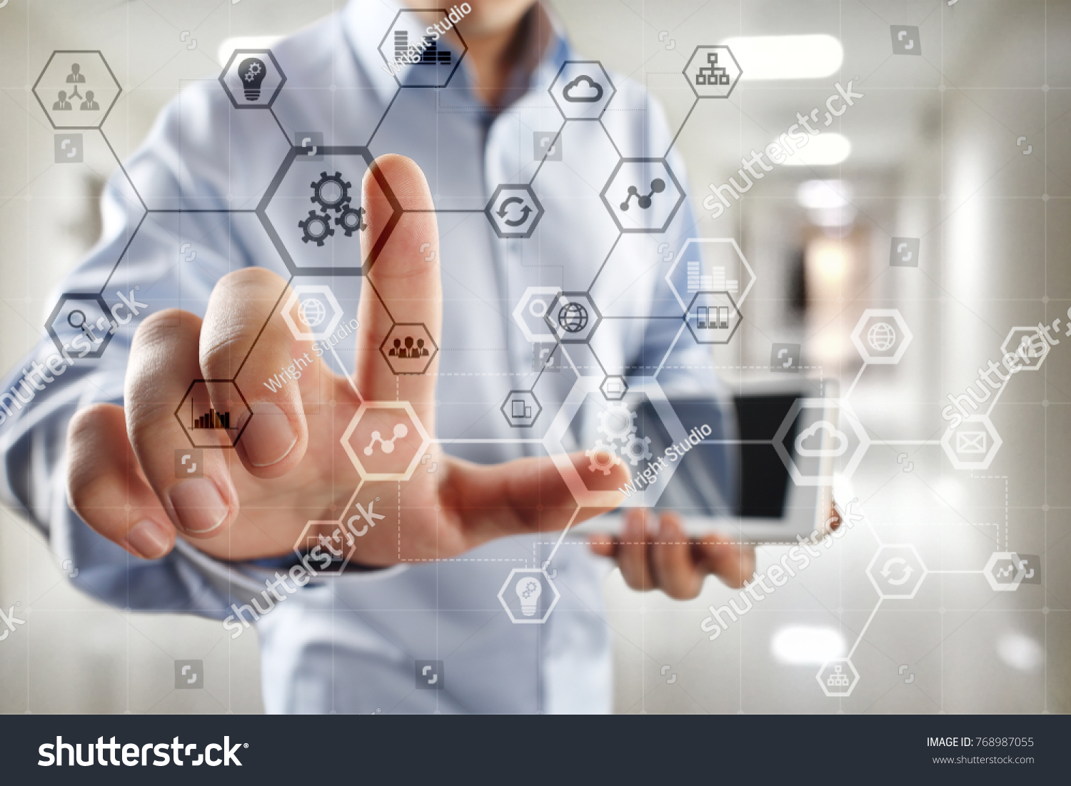 Block Chain Network And Programming Concept On Virtual Screen Remote Stethoscope Diagram Background Business Technology Ez Canvas