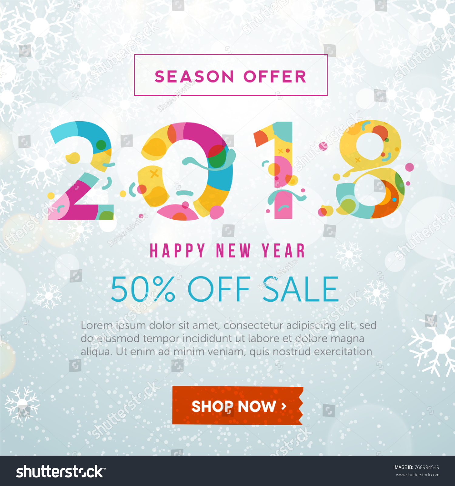 2018 happy new year banner template stock vector 768994549 2018 happy new year banner template vector illustration for flyers posters brochure pronofoot35fo Image collections