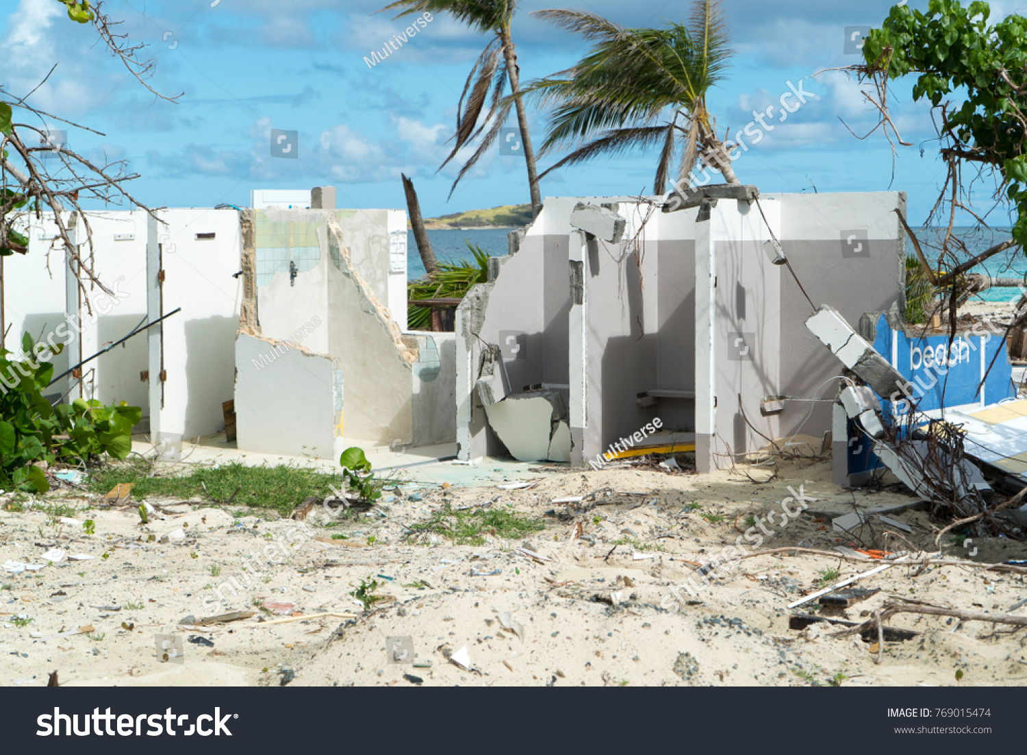 StMartin Orient Bay December 2017 Hurricane Irma Aftermath Destruction To Beach