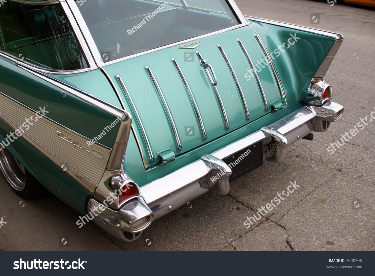 1957 Chevrolet Bel Air Nomad Station Stock Photo Edit Now 7690306 Chevy Wagon In Green Paint