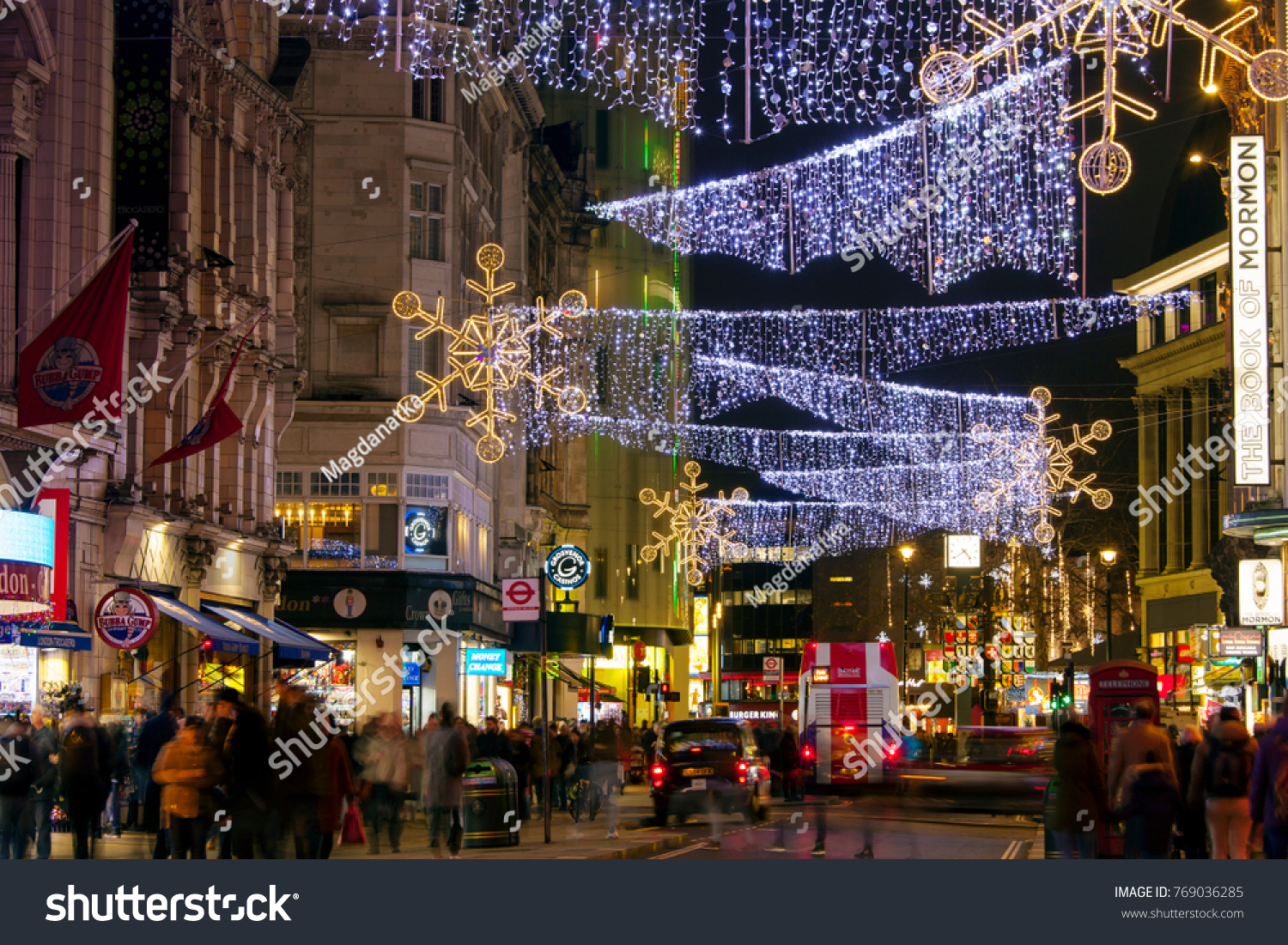 id 769036285 - London Christmas Decorations