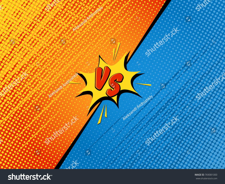 Comics Fight Background Versus Battle Cartoon Stock Vector Royalty Free 769081000