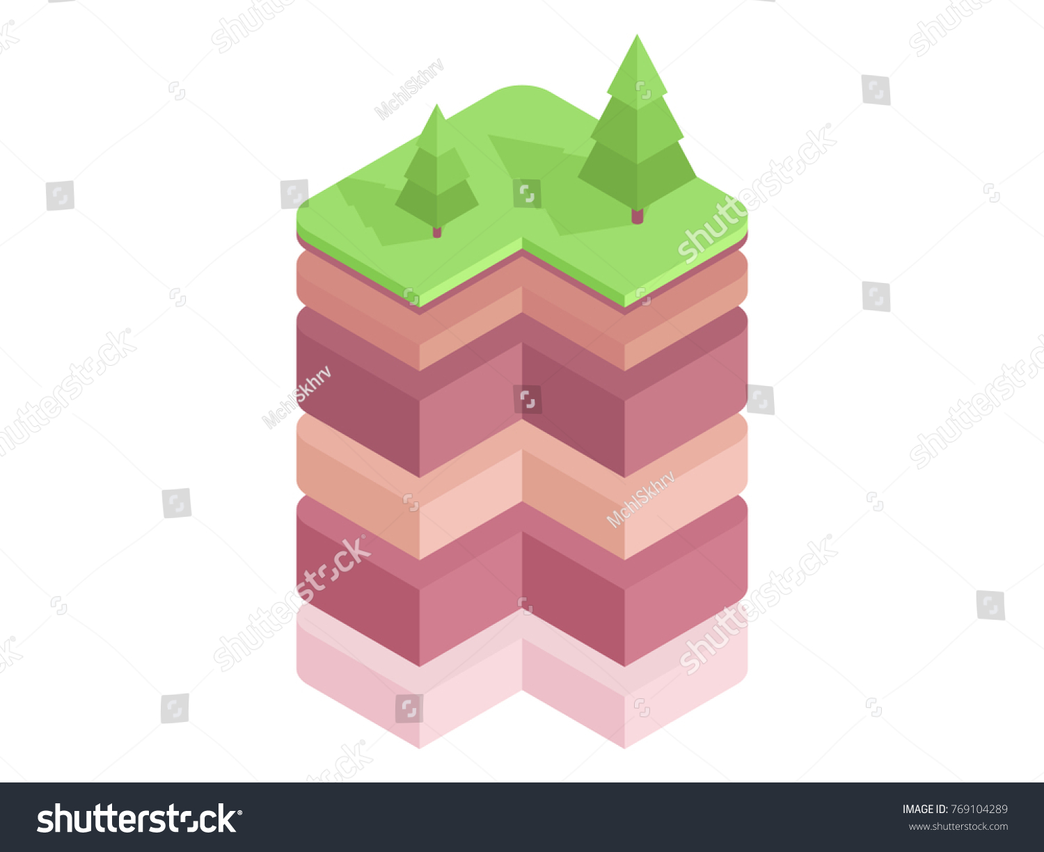 Soil layers diagram isometric soil horizons stock vector 769104289 soil layers diagram isometric soil horizons and profile earth structure vector illustration pooptronica Images