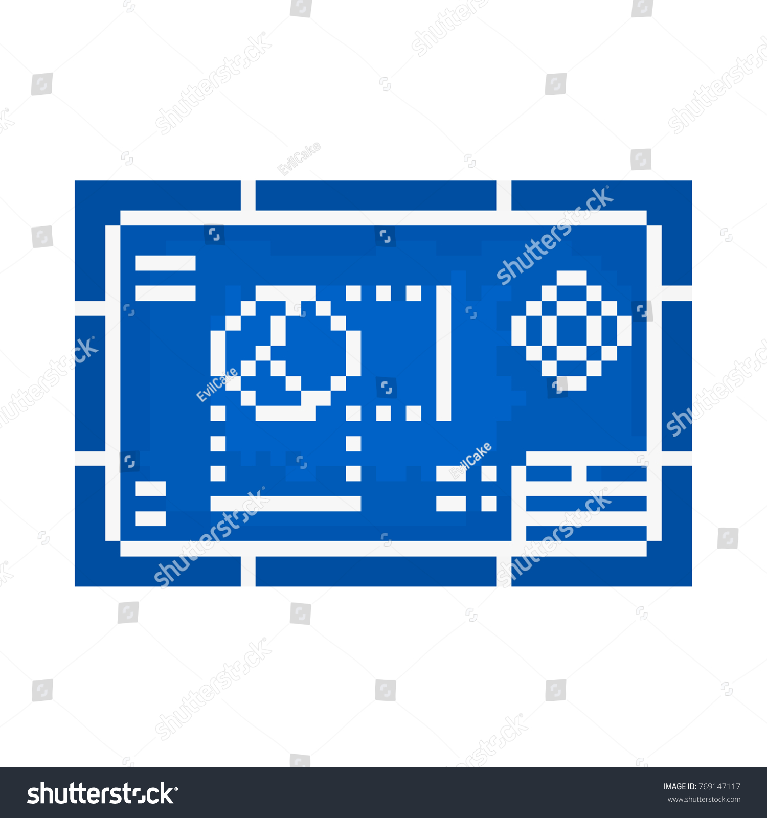 Pixel blueprint games websites vectores en stock 769147117 pixel blueprint for games and websites malvernweather Gallery