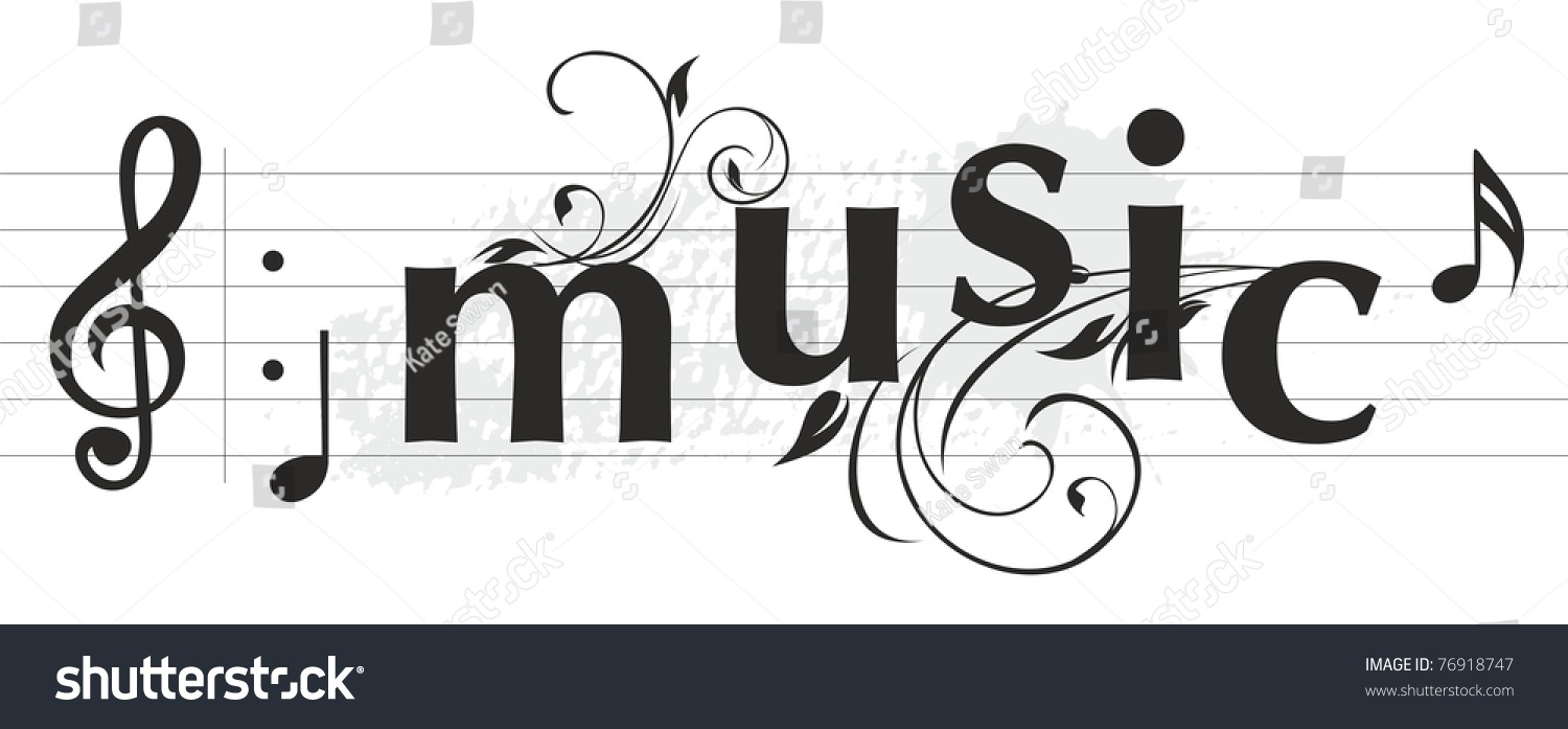 musical letters banner stock vector royalty free 76918747