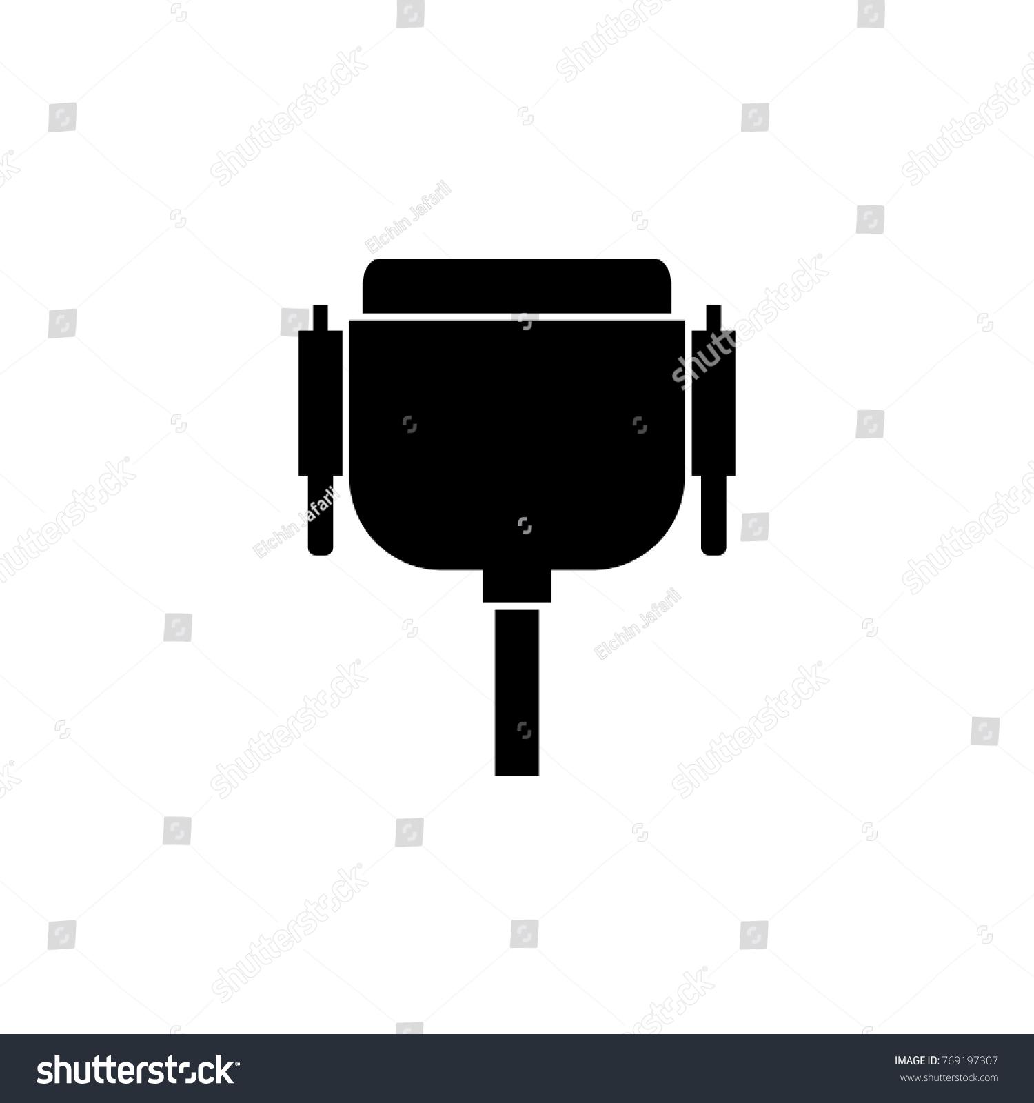 VGA Wire Port Cable Icon PC Stock Vector 769197307 - Shutterstock