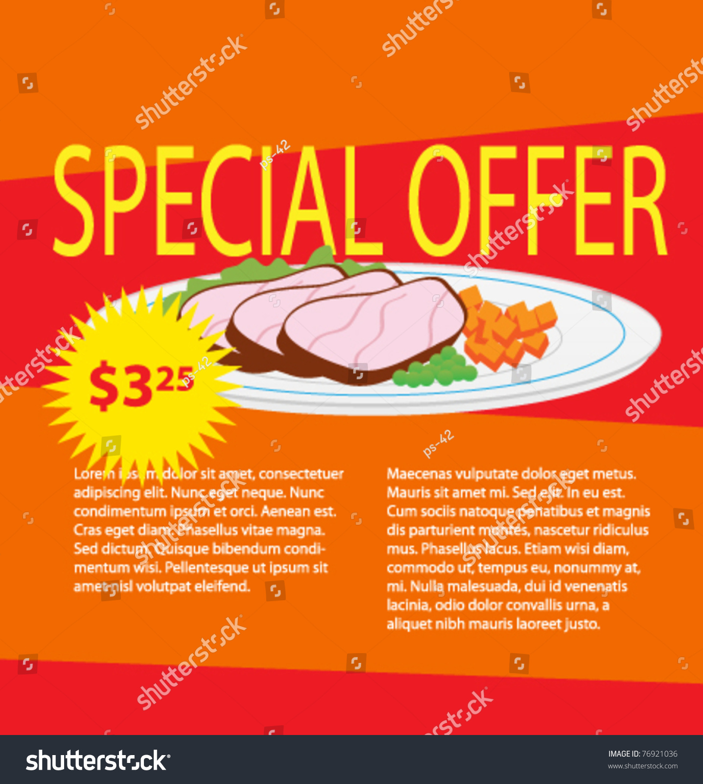 Price for a poster design - Product Poster For Shop Design Sale Card Offers Price Vector