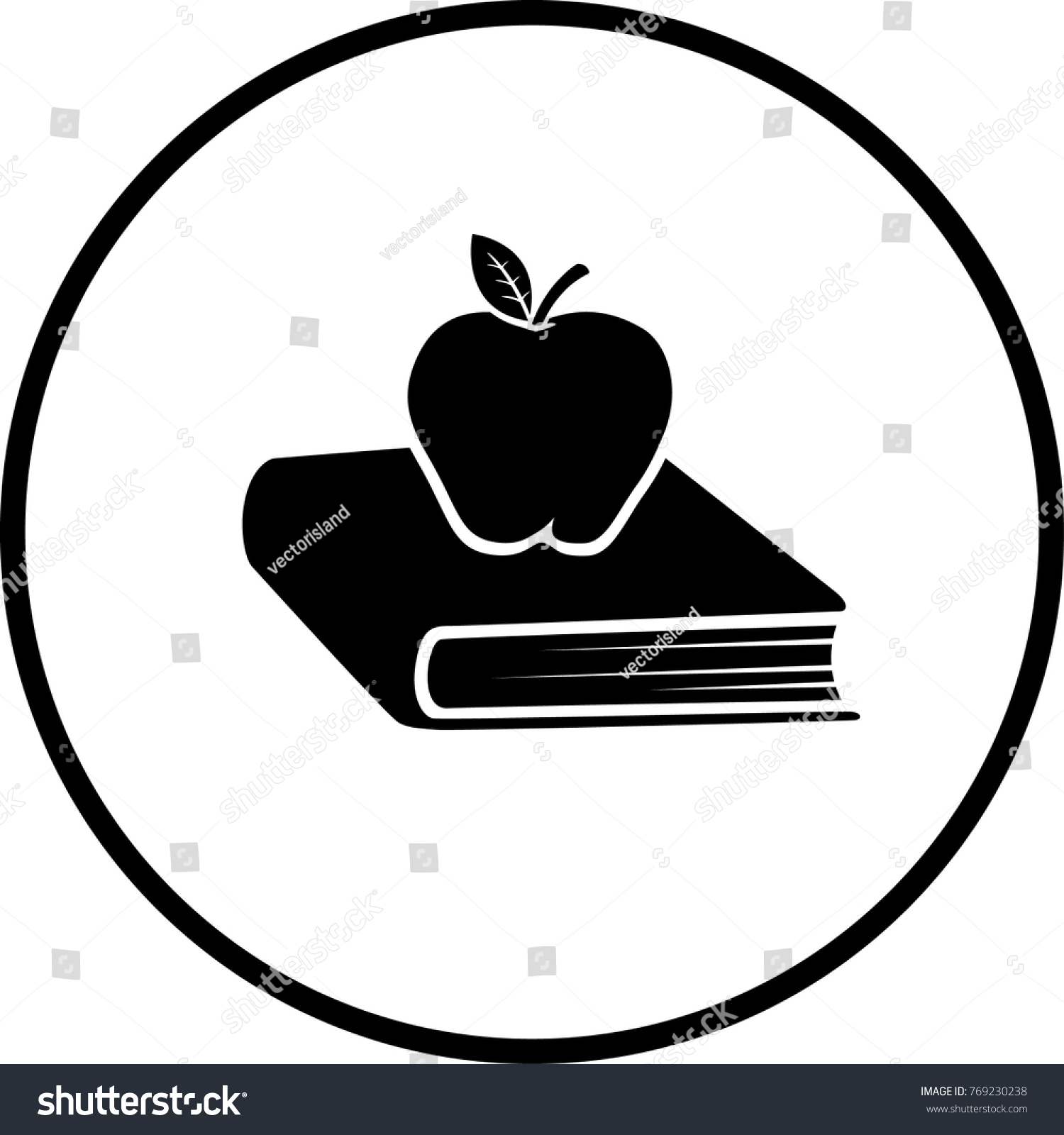 Book Apple Symbol Stock Vector Royalty Free 769230238 Shutterstock