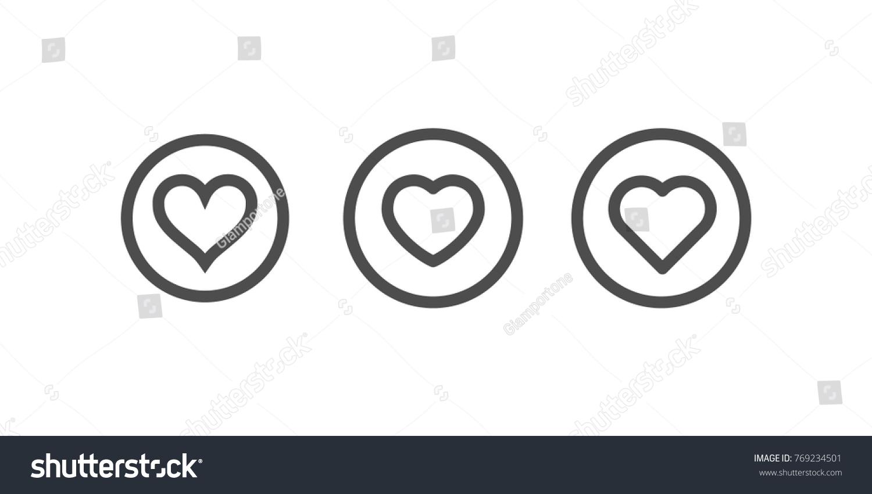 Heart icons inside circle symbol love stock vector 769234501 heart icons inside a circle symbol of love linear vector buycottarizona