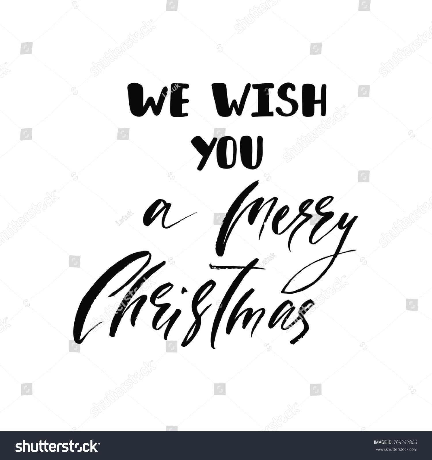 We Wish You Merry Christmas Holiday Stock Vector 769292806