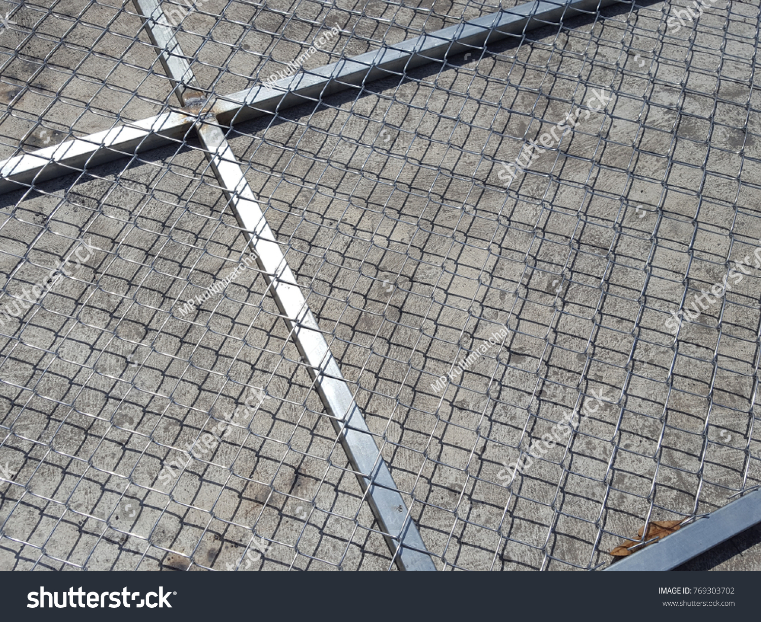 Wire Fence Installation Barbed Wire Steel Stock Photo (Royalty Free ...