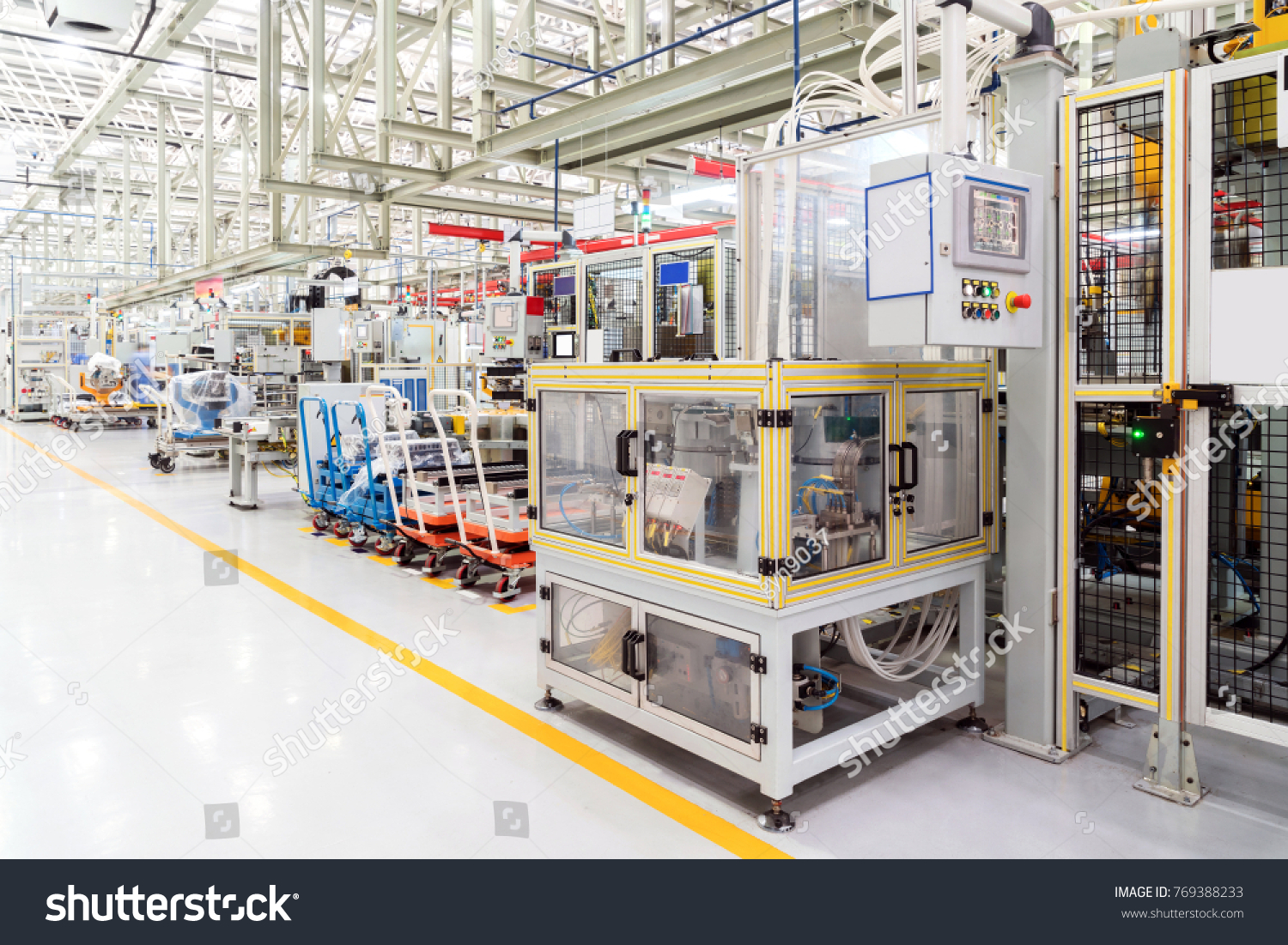 Modern Automobile Production Line Automated Production Stock Photo ...