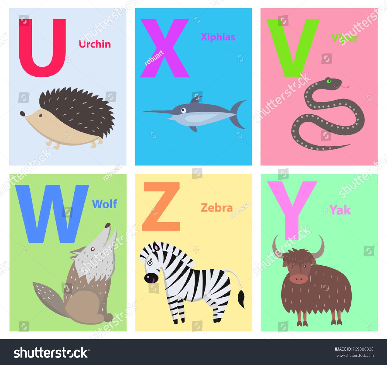 Alphabet Set Six Letters U X Stock Vector (Royalty Free) 769388338