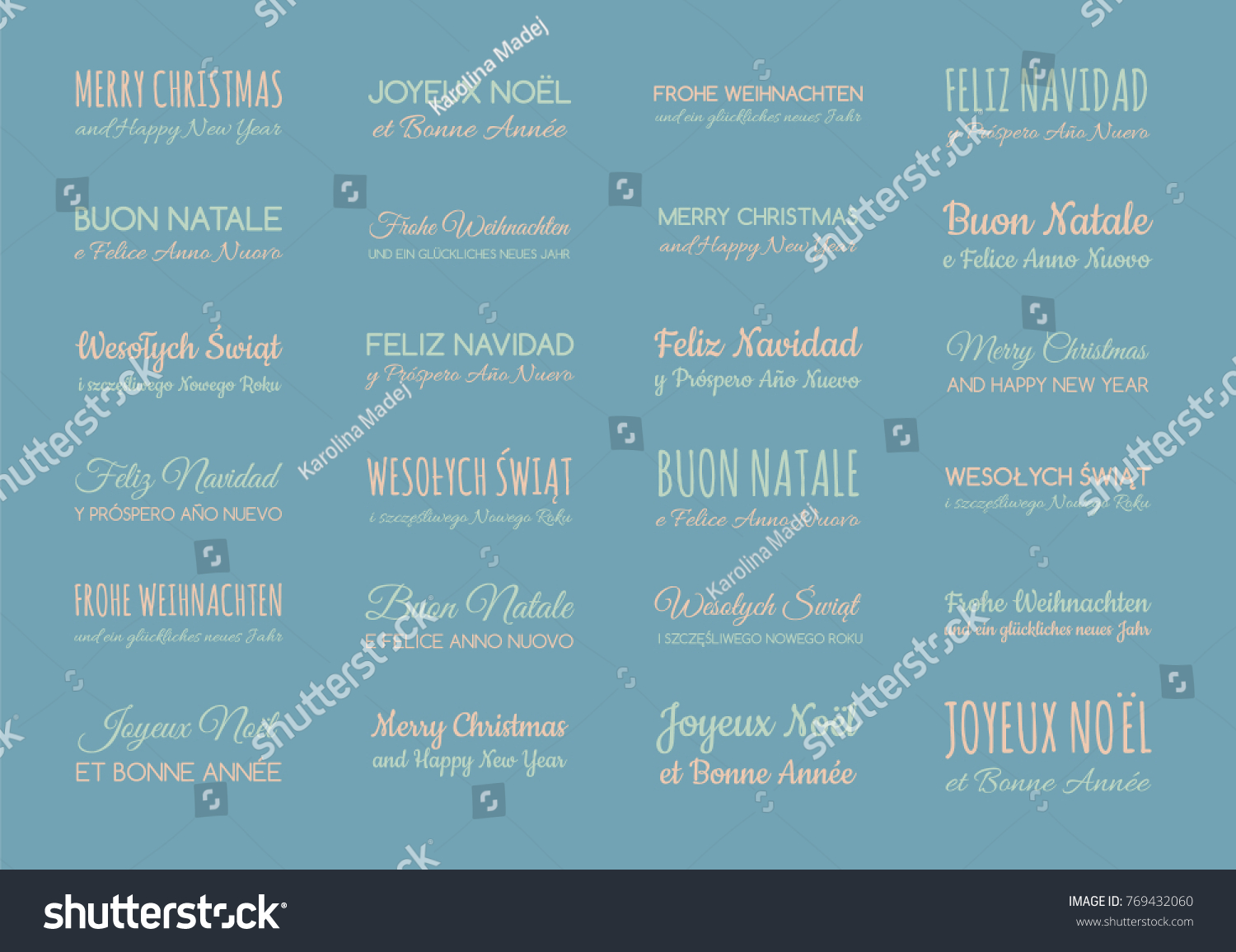 Set pastel colored greetings different languages stock vector hd set of pastel colored greetings in different languages english spanish german french m4hsunfo