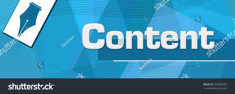 Content concept image text pen symbol stock illustration 769480795 content concept image with text and pen symbol biocorpaavc Choice Image