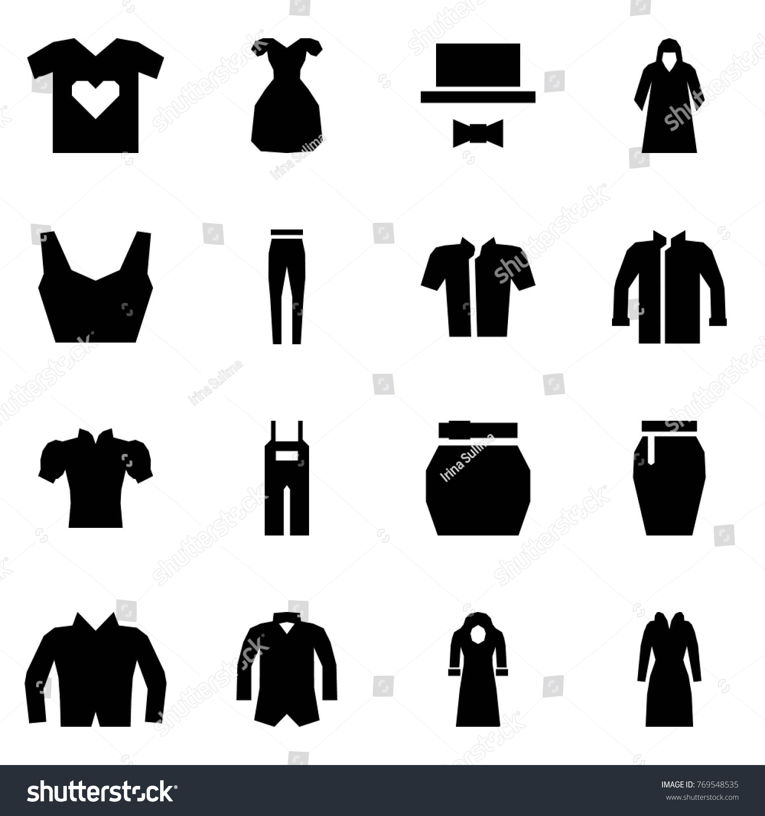 Origami style icon set t shirt stock vector 769548535 shutterstock origami style icon set t shirt love vector cocktail dress code hoodie jeuxipadfo Gallery
