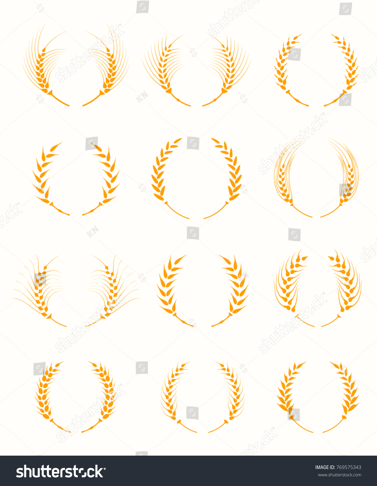 Agricultural symbols isolated on white background stock illustration agricultural symbols isolated on white background agriculture grain organic plant bread food biocorpaavc Gallery