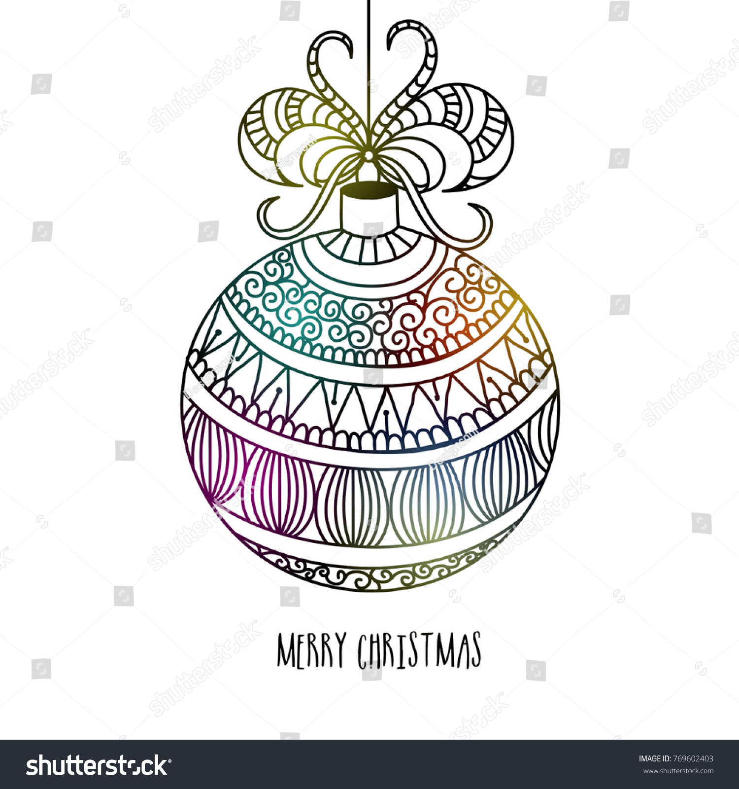Merry Christmas A Christian Holiday Honoring Stock Vector 769602403 ...