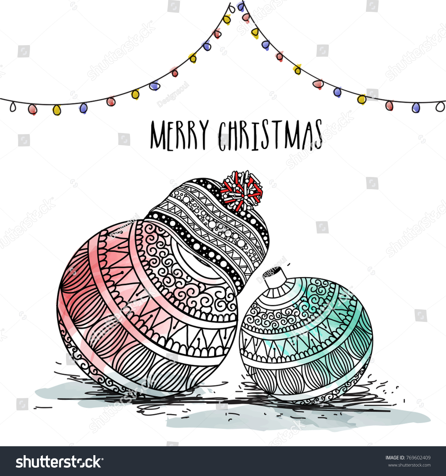 Merry Christmas A Christian Holiday Honoring Stock Vector (Royalty ...