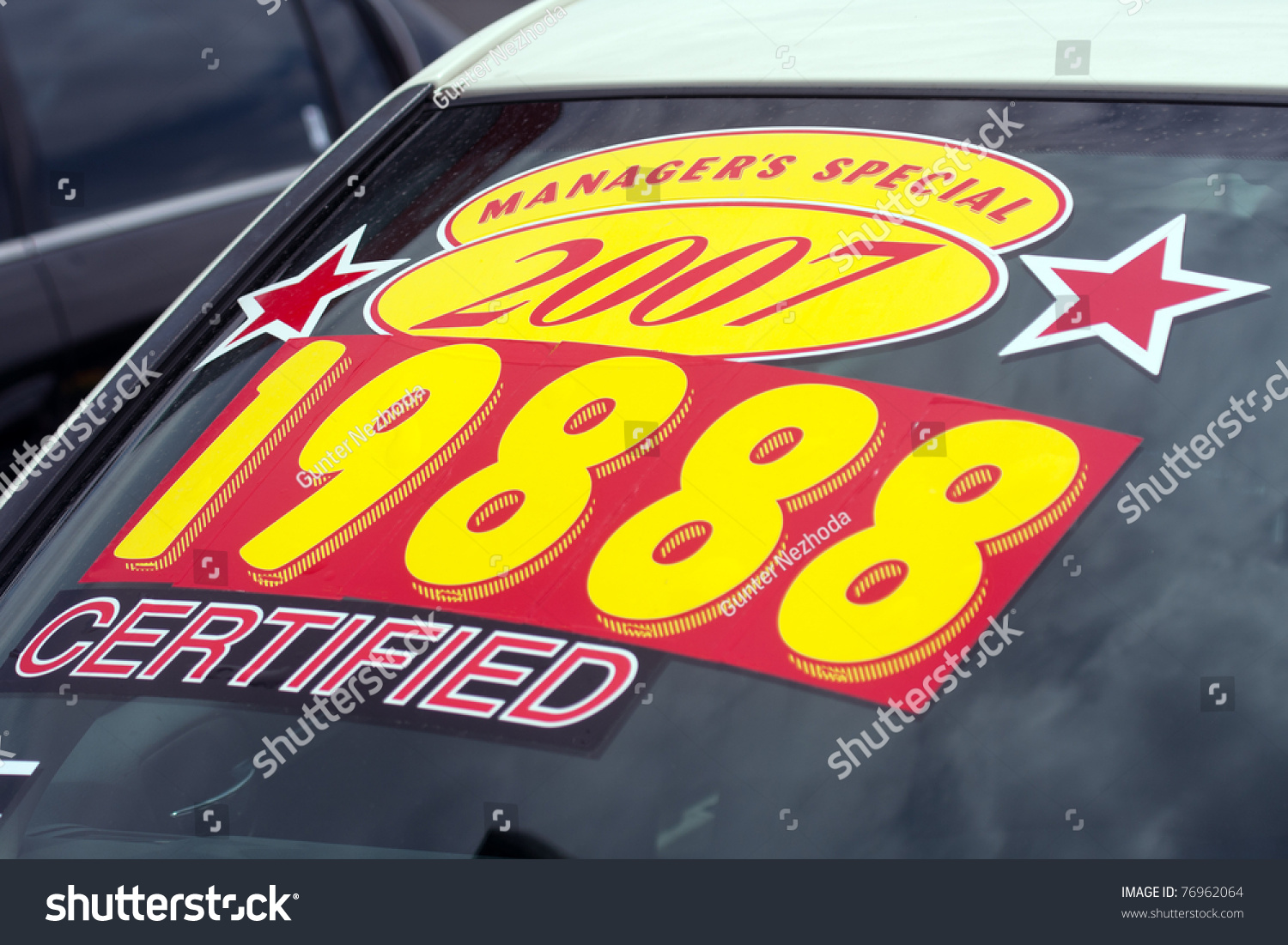 Car sticker design for sale - Windshield Price Sticker On A Used Car Lot For Sale