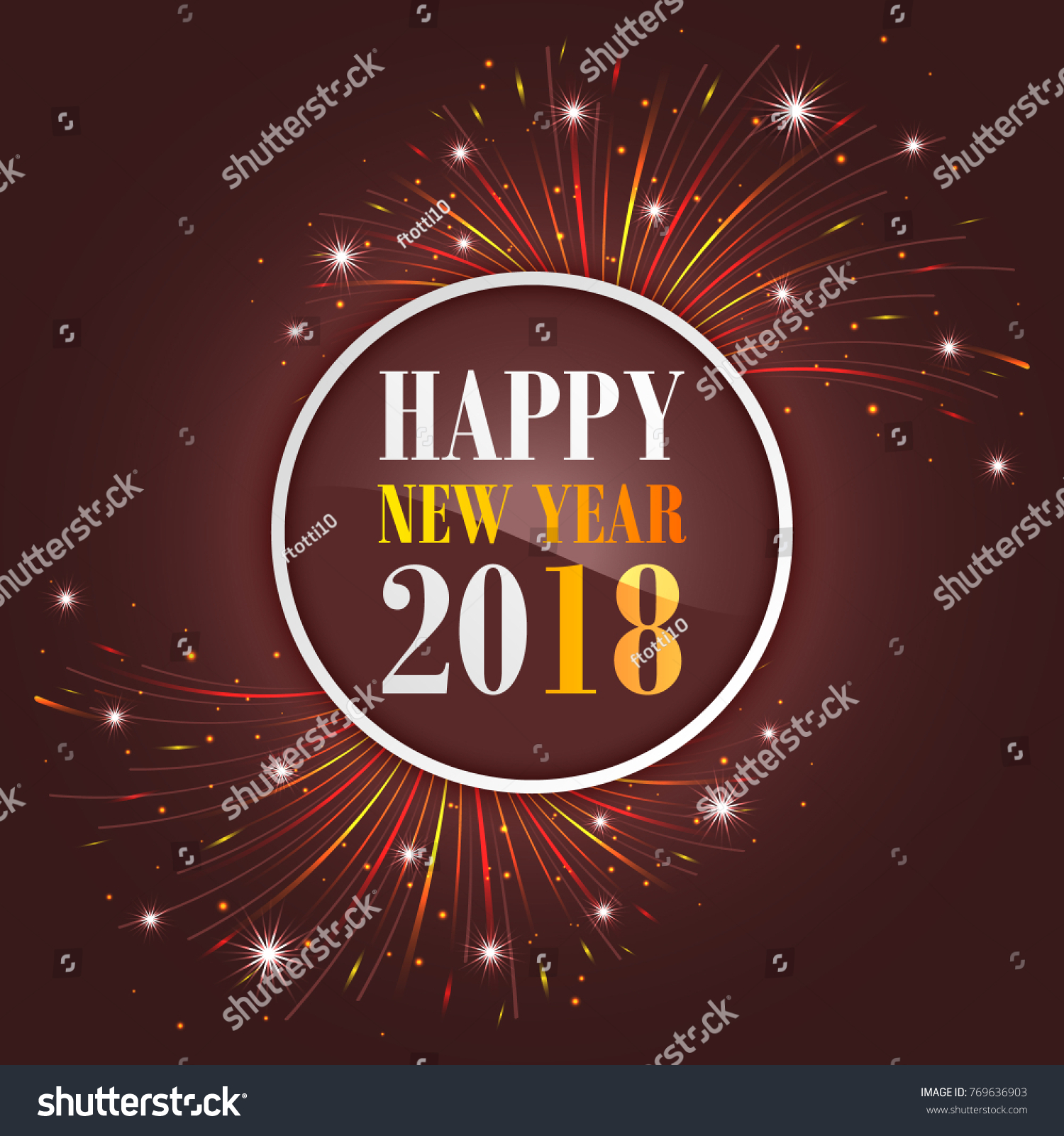 New year greetings 2018 fireworks sparkle stock vector 769636903 new year greetings 2018 with fireworks sparkle stars and glitter vector illustration kristyandbryce Image collections