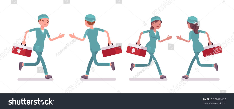 Busy Doctor Hurried Nurse Busy Doctor Hurried Nurse new photo