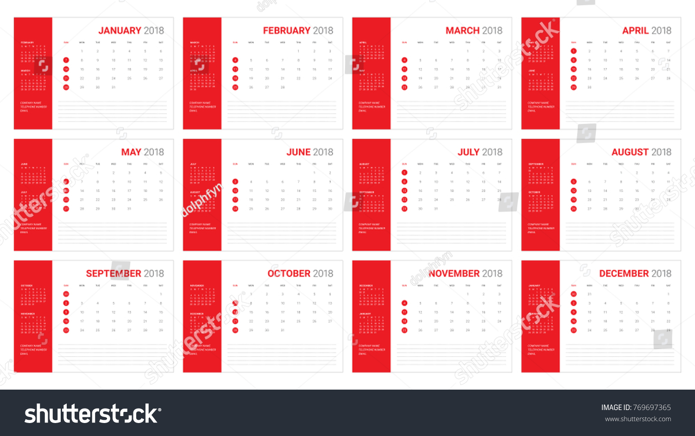 2018 planner calendar