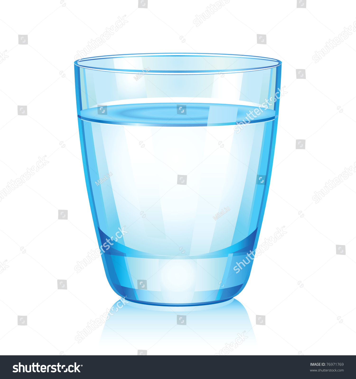 Vector illustration short glass water stock vector for Water glass images