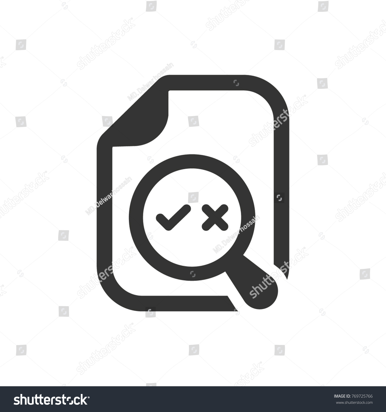 Proofreading Check Error Icon Stock Vector 769725766 Shutterstock