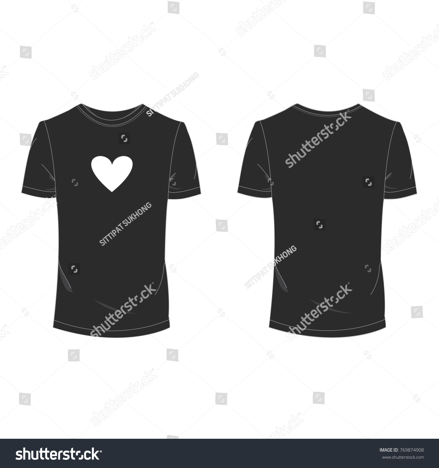 eece2fe32 Black T-shirt heart for Valentine day template using for fashion cloth  design and accessorie