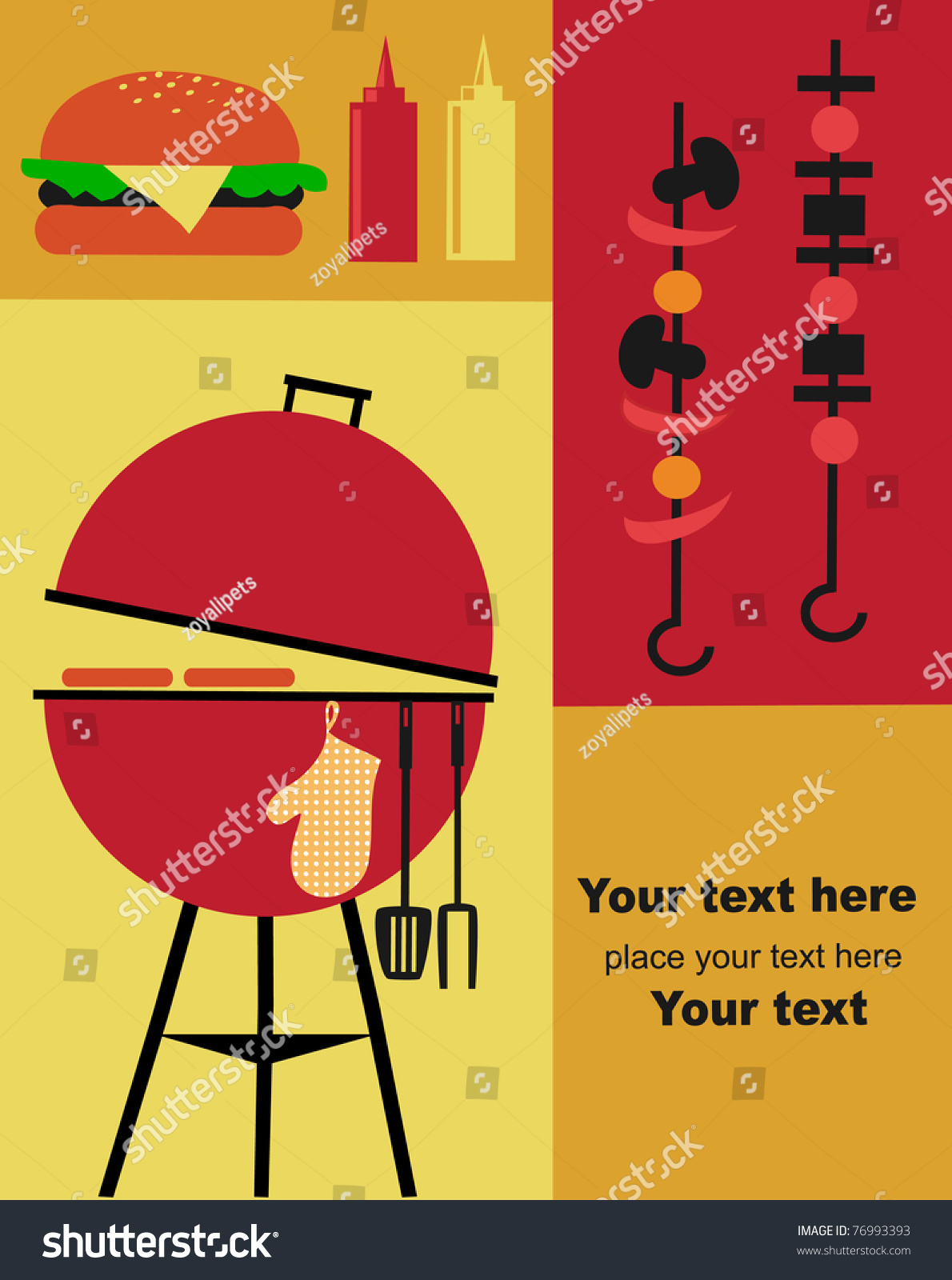 Bbq Party Invitation Template Vector 76993393 Shutterstock – Bbq Invitation Template