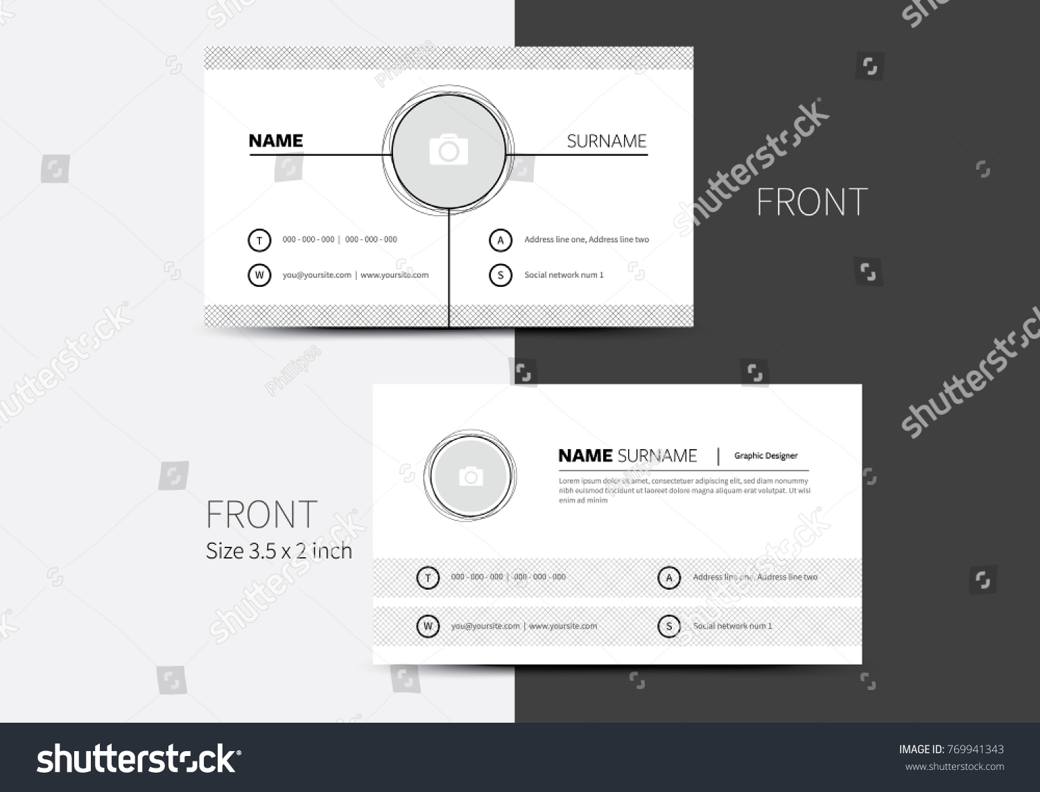 Vector business card layout grating net stock vector 769941343 vector business card layout with grating or net background in clean graphic style idea abstract magicingreecefo Choice Image