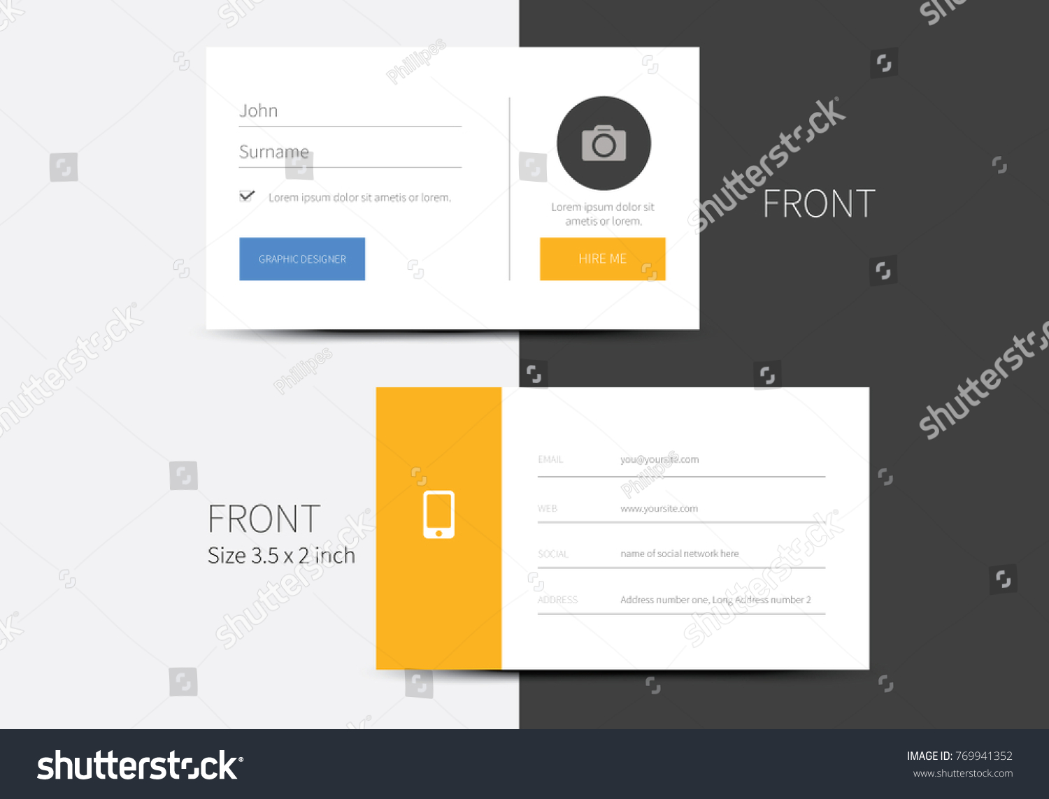 Business card vector simulating app profile stock vector hd royalty business card vector simulating app profile login layout with front and back side business graphic colourmoves