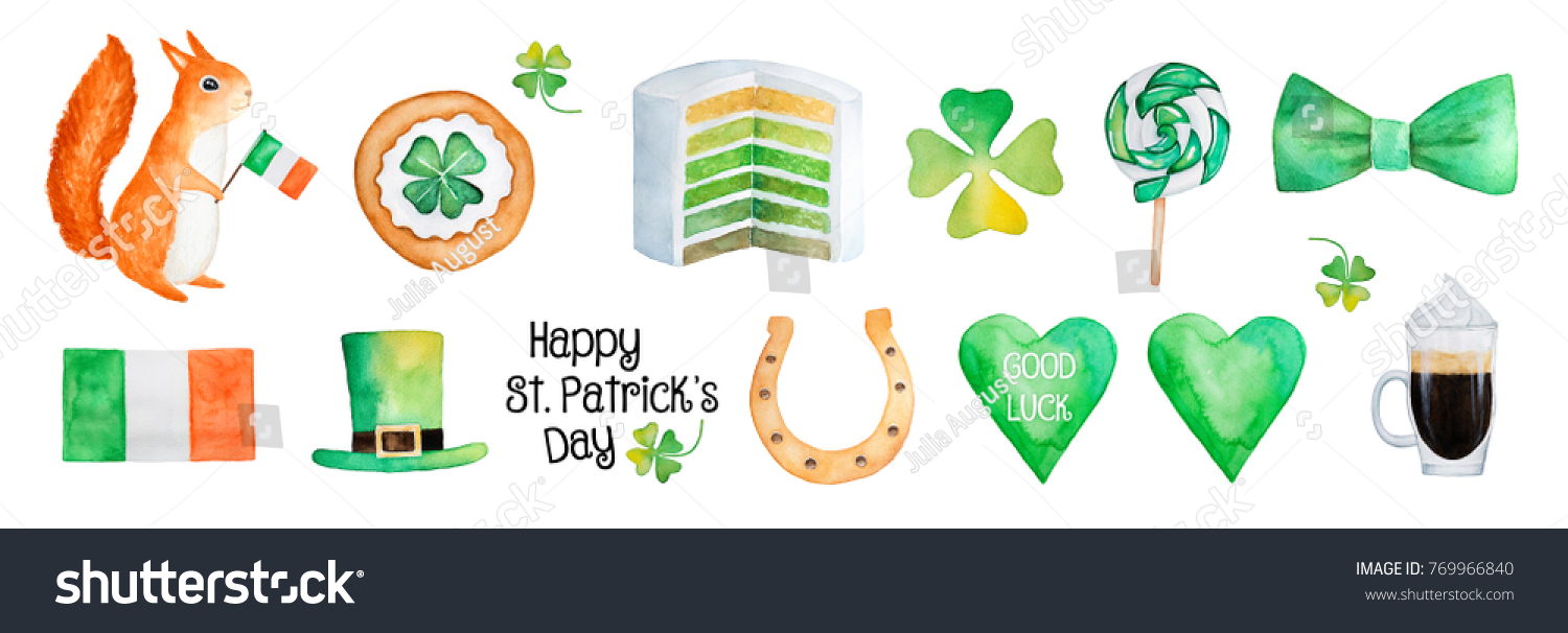 Big happy saint patricks day illustration stock illustration big happy saint patricks day illustration collection lucky charms sweets traditional party symbols biocorpaavc Image collections