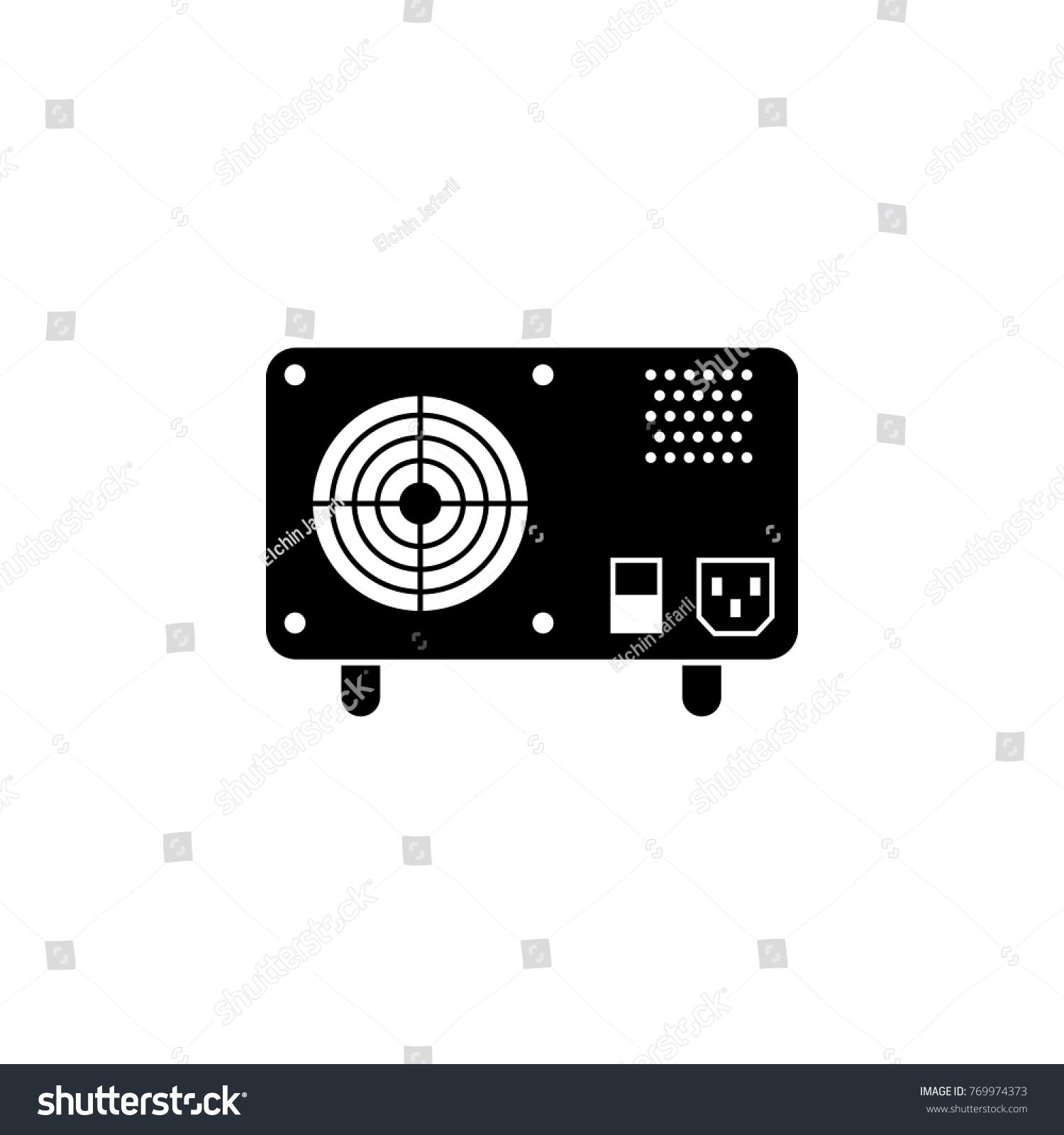 Ups Uninterruptible Power Supply Icon Pc Stock Illustration