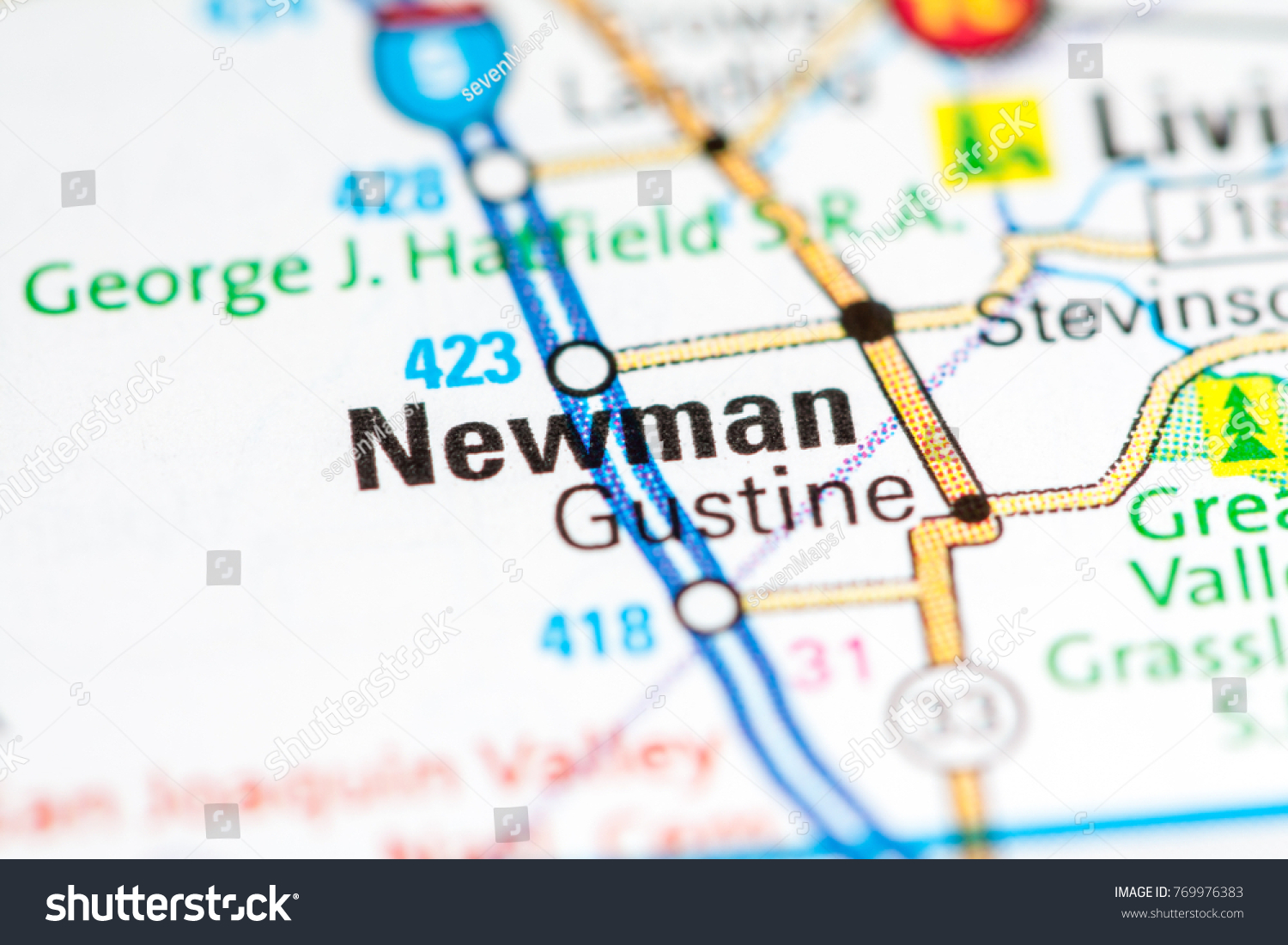 Newman California Map.Newman California Usa Stock Photo Edit Now 769976383 Shutterstock