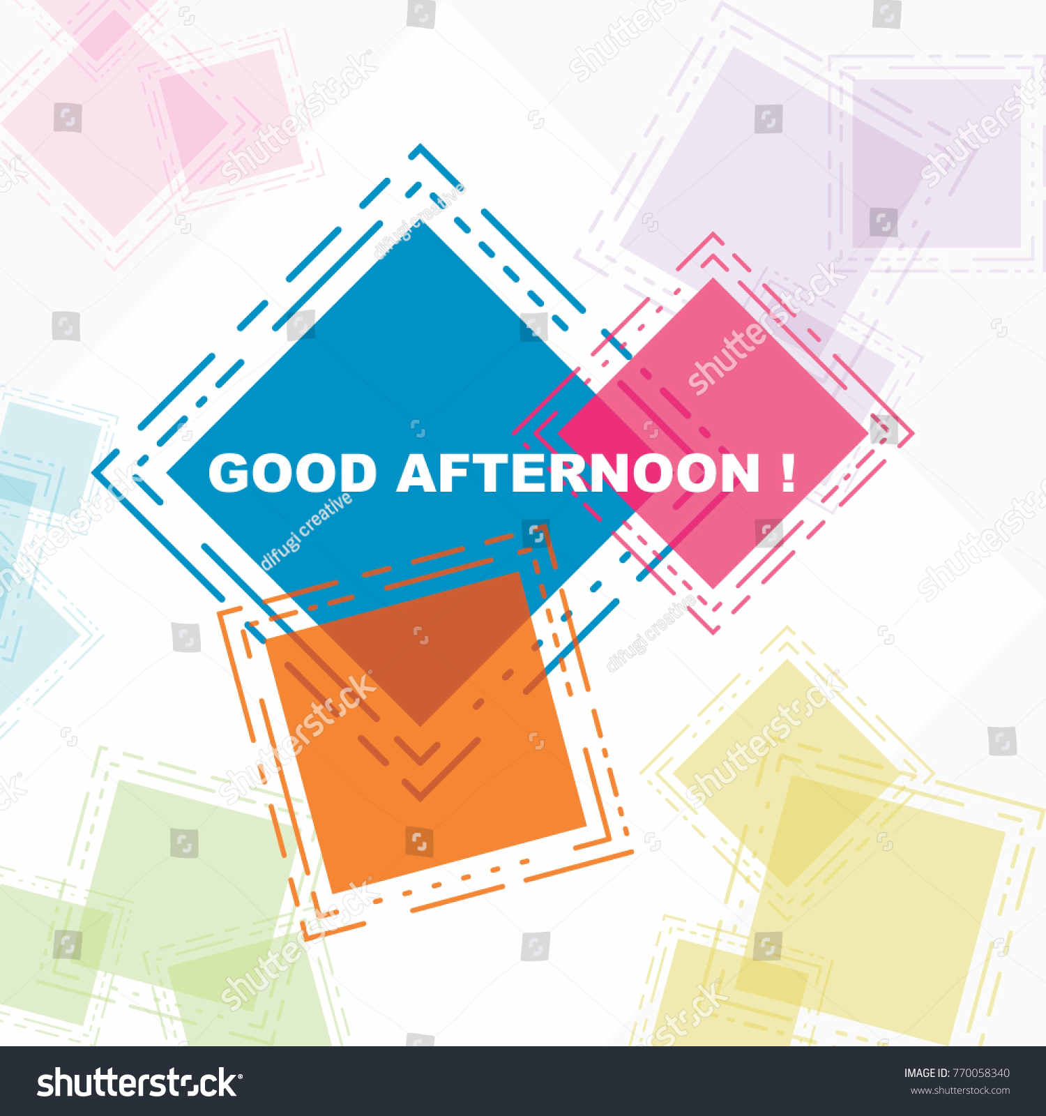 Good Afternoon Beautiful Greeting Card Poster Stock Vector 770058340