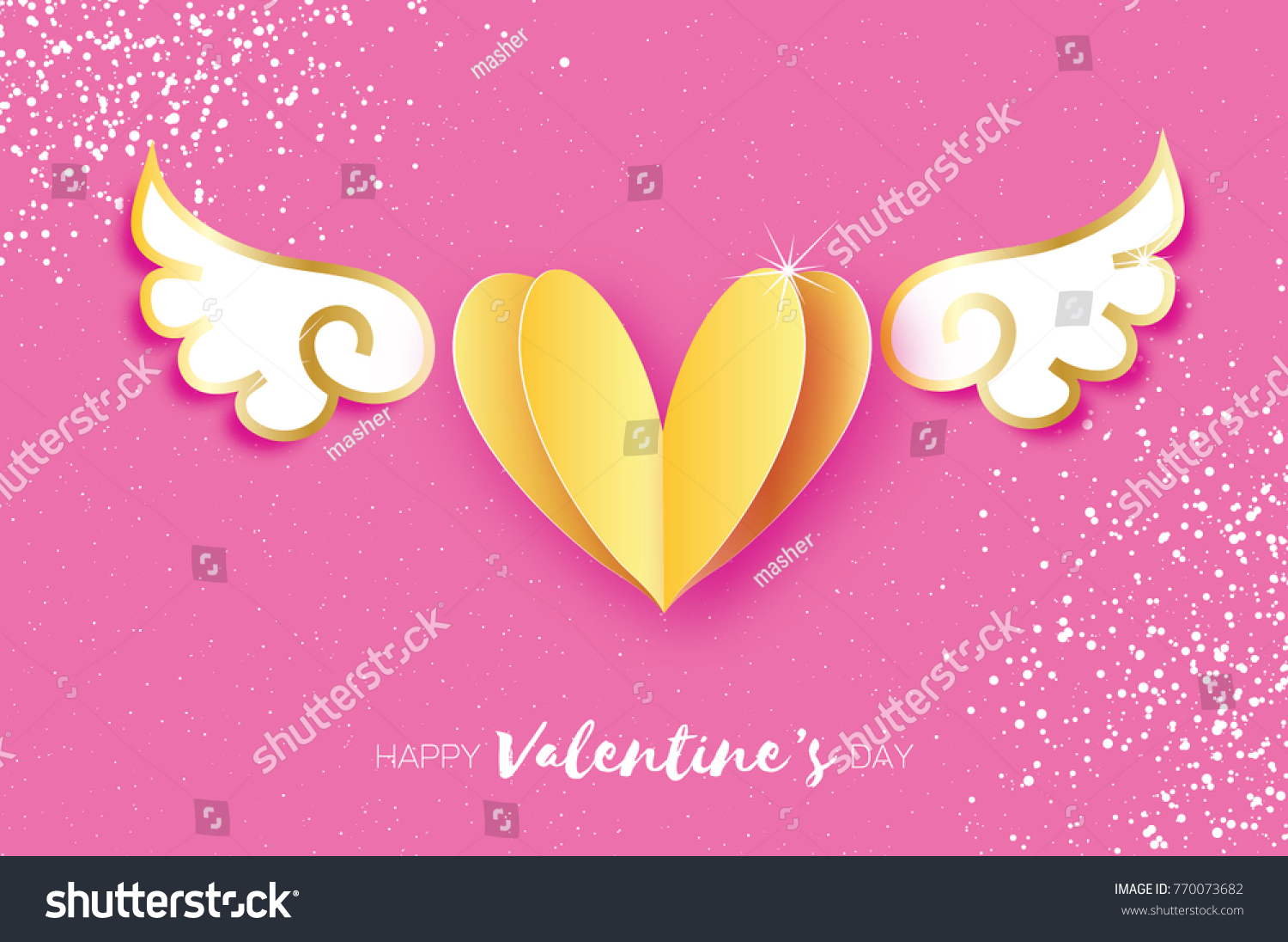 Cute Happy Valentines Day Greetings Card Stock Vector Royalty Free