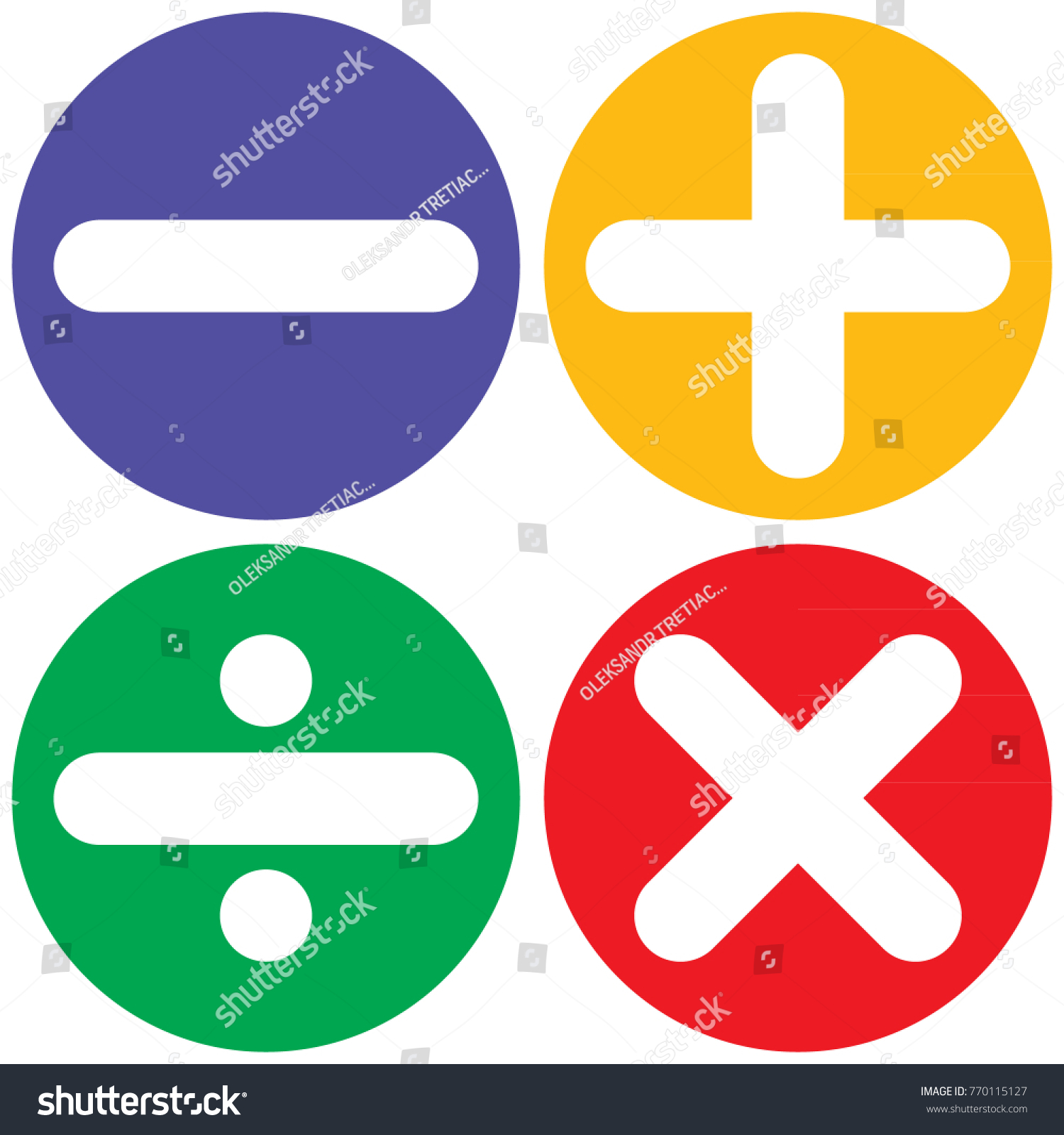 Vector icons mathematical signs stock vector 770115127 shutterstock vector icons with mathematical signs buycottarizona Image collections