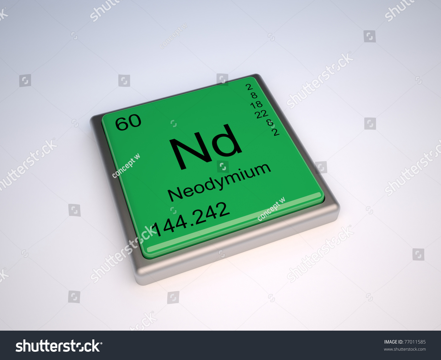 Neodymium chemical element periodic table symbol stock neodymium chemical element of the periodic table with symbol nd gamestrikefo Gallery