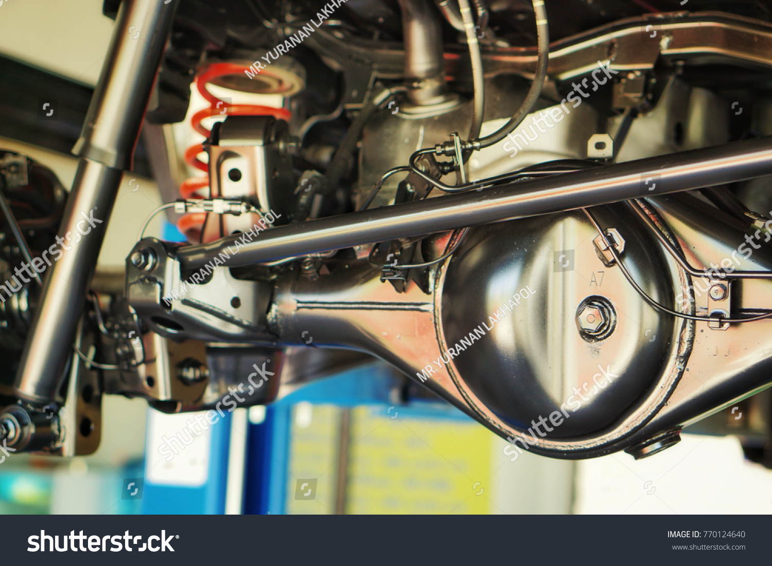 Chassis Suspension Car Car Shaft Cleaning Stock Photo 770124640