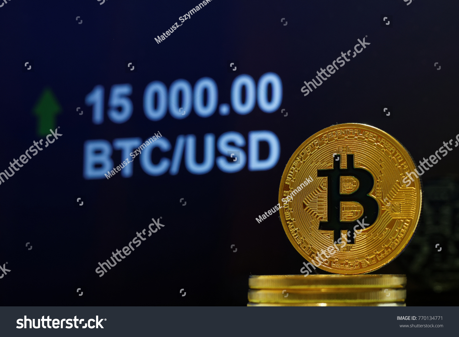 Concet bitcoin stock market price going stock photo 770134771 concet of bitcoin stock market price going up to fifteen thousand us dollars 15000 biocorpaavc Images