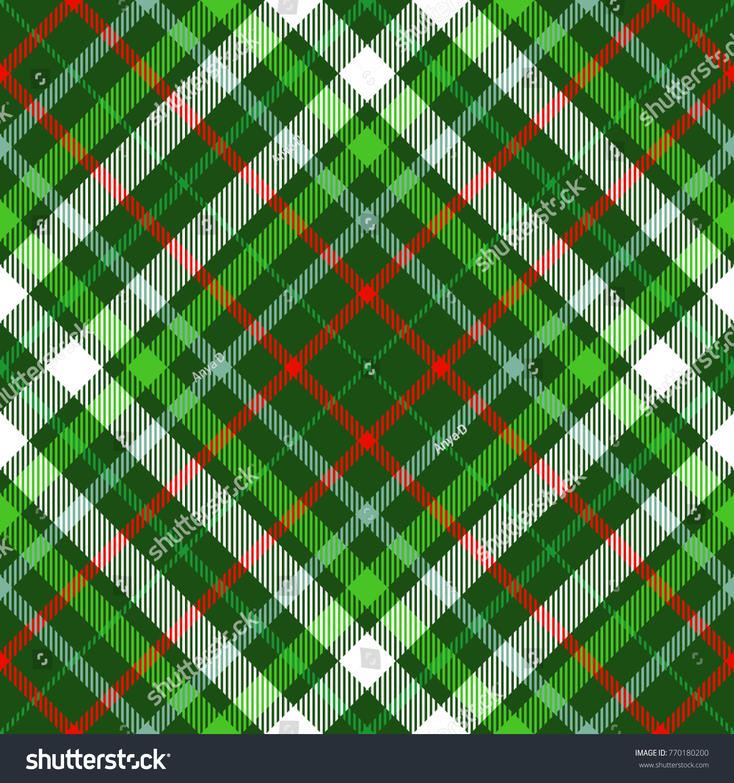 Seamless Tartan Plaid Pattern Shades Green Stock Vector Royalty Free 770180200