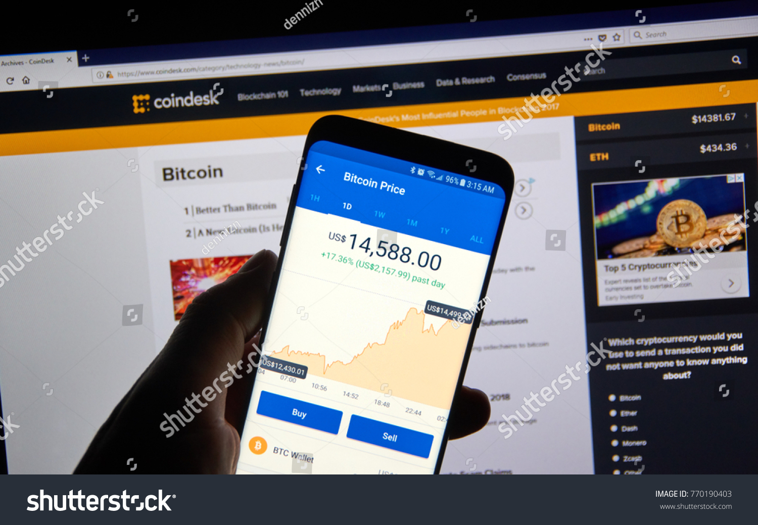 Montreal Canada December 7 2017 Bitcoin Stock Photo 770190403