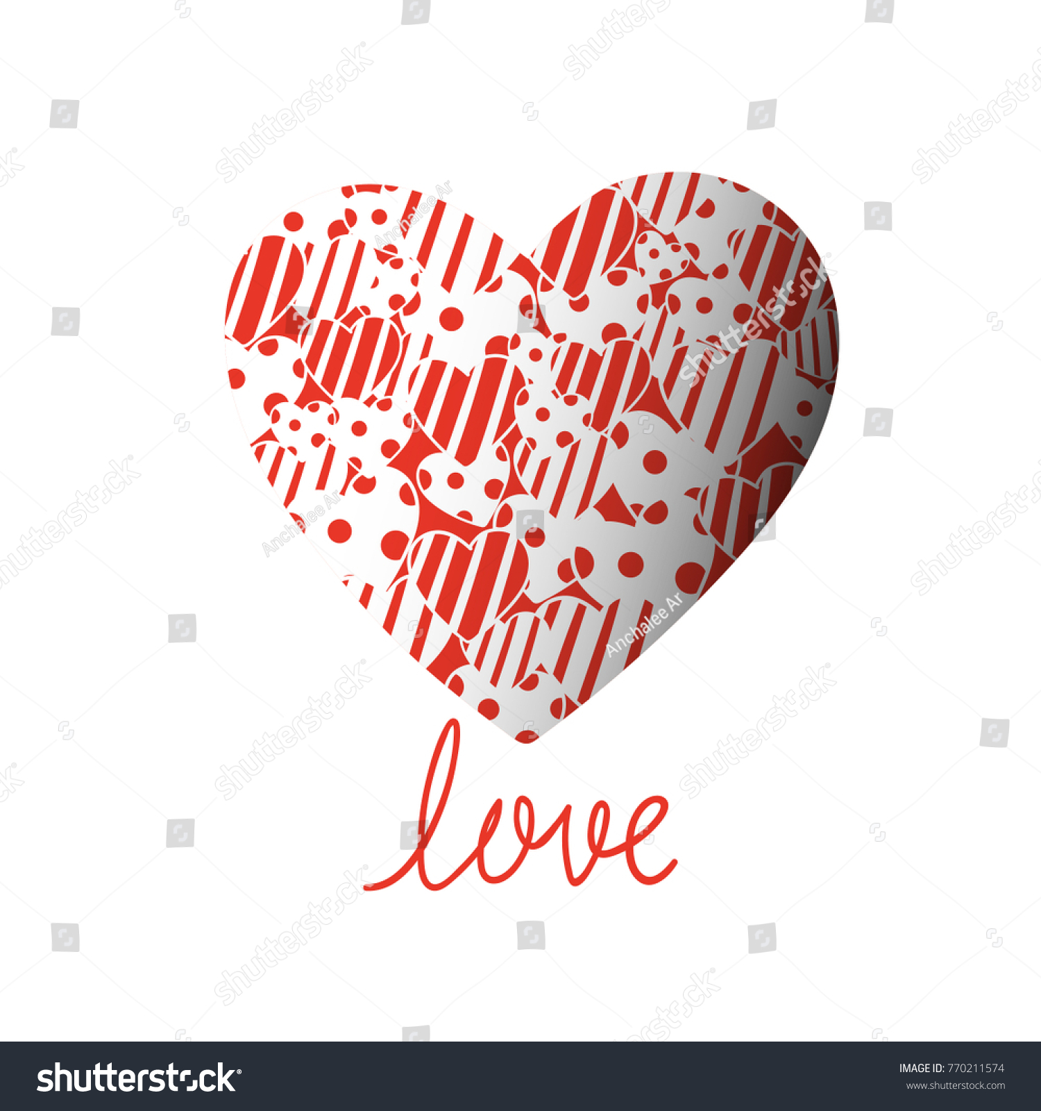 Vector Illustration Design Cute Little Heart Stock Vector Royalty