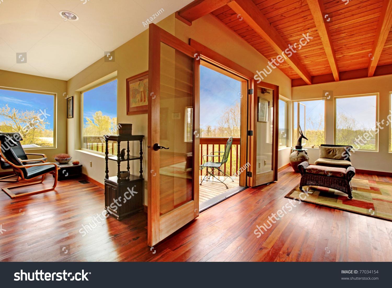 Wood Ceiling Designs Living Room Modern Living Room Wood Ceiling Floor Stock Photo 77034154