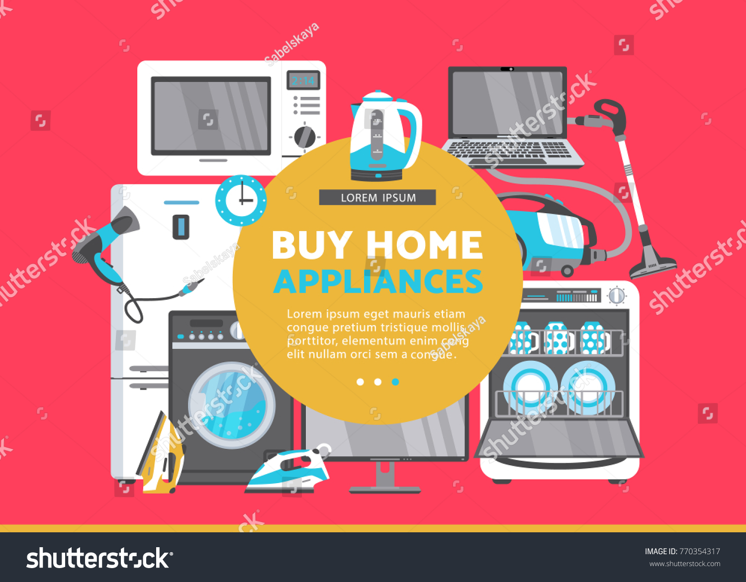Vector Buy Home Appliance Advertising Poster Stock Vector Royalty