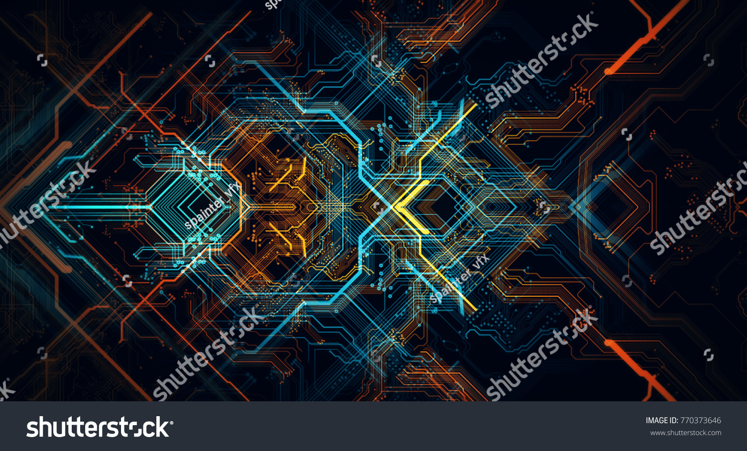 Royalty Free Stock Illustration Of Abstract Technological Background Pics Photos Desktop Wallpapers Printed Circuit Board Pictures Made Different Element Depth Field Effect And