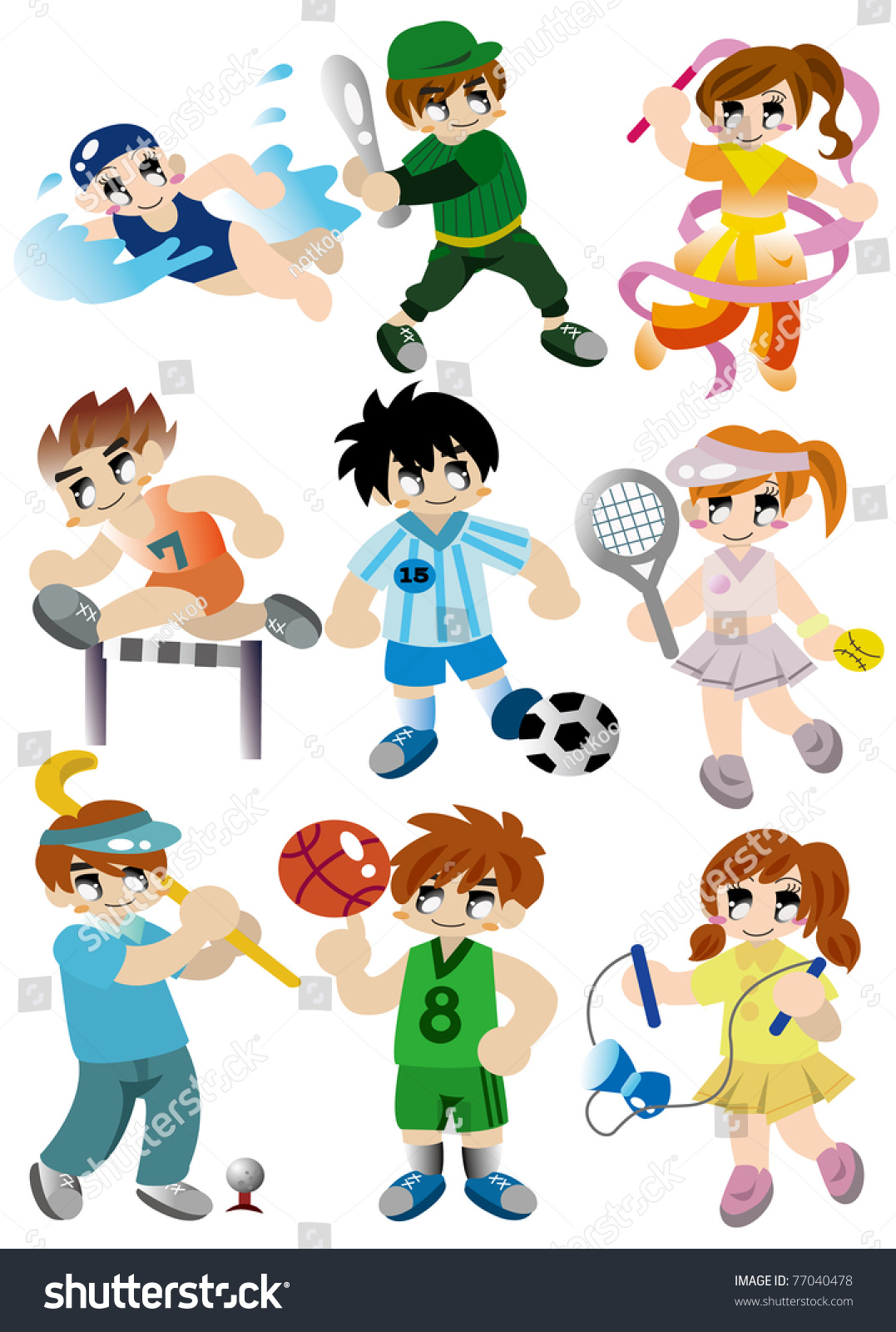 cartoon sport player icon shutterstock vector